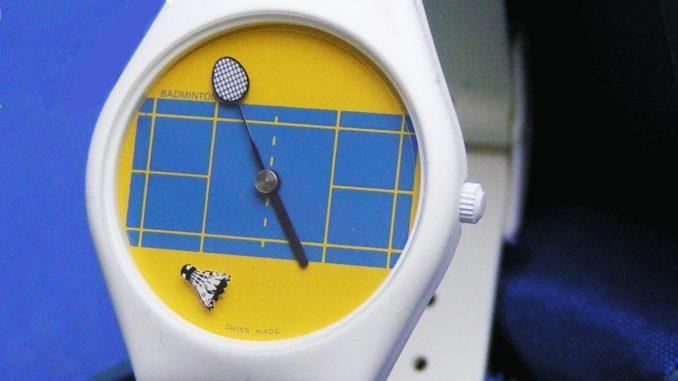 Badminton-Uhr